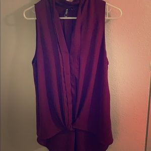 Dark maroon blouse. Perfect for work or going out!